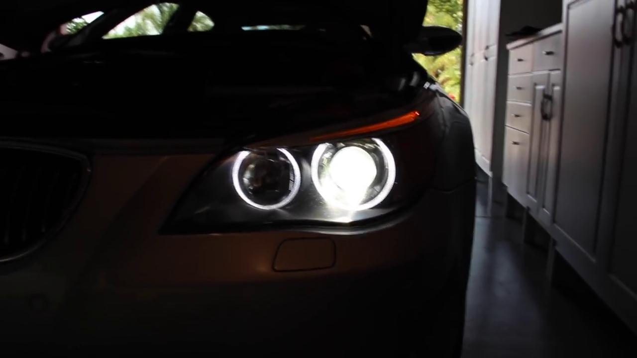 The guide to install a 10W LED Halo bulb in BMW 60E